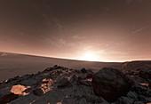 Sunset on Mars, illustration