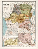 Belgian Congo, 1896 map