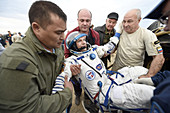 Danish astronaut Andreas Mogensen after Soyuz landing