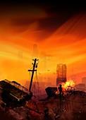 Apocalyptic Earth, illustration