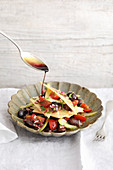 Preserved cheese with a Styrian runner bean salad