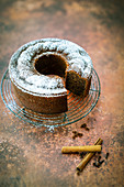 Vegan spiced coffee cake