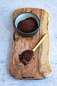 Sumac in a bowl and on a spoon