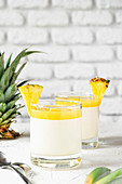 Panna cotta with pineapple