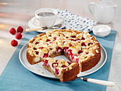 Raspberry and skyr cake