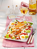 Caesars Salad mit Kichererbsen