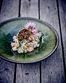Langoustine tartare with caviar