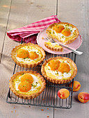 Apricot curd tartlets