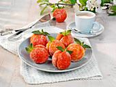 Sweet peach balls