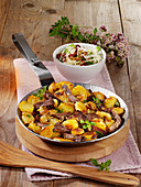 Styrian country-style hash with beef and potatoes