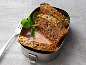Nut meatloaf with tomato sauce