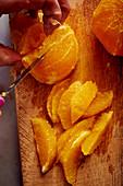 Fillet the orange