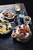 Fried chicken with Aussie truffle mash and gravy