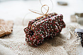 Lebkuchen stars with dark chocolate glaze