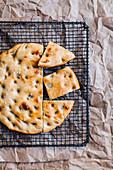 Italian Tuscan bread Schiacciata