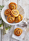Sweet rolls with cinnamon and nuts