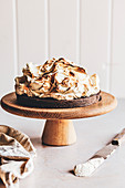 Chocolate tart with toasted marshmallow