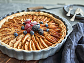Apple and berry tart (France)