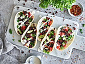 Tacos with minced tofu