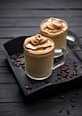Vegan Dalgona coffee