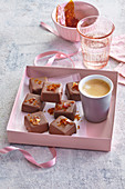 Chocolate pralines with salted caramel