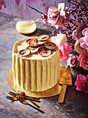 Orange and white chocolate butter cream layer cake