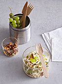 Waldorf salad with grapes and nuts