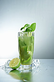 Brazil Basil Cocktail with lime