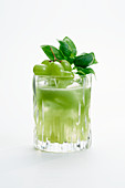 Simple Remedy Cocktail with basil and grapes