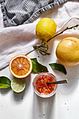Orange marmelade made from blood oranges