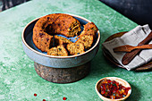 Moist butter cake with candied fruits