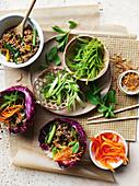 San Choy Bow mit Ente, Orange und Sternanis (China)