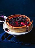 Blueberry and ginger mascarpone cake