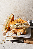 Toasted sandwich ideas with taleggio, blue cheese and Cheddar