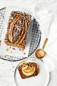 Roasted banana, yoghurt and mixed seed loaf