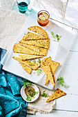 Fennel seed, almond and turmeric crackers