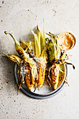Grilled corn, chipotle mayo and farmhouse manchego