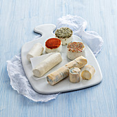 Small goat's cheese varieties