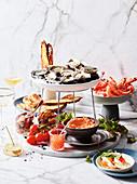 Meeresfrüchteplatte für eine Party