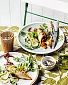 Gefüllter Tintenfisch mit Gurken-Limetten-Pickles