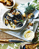 Mussels with habañero sauce