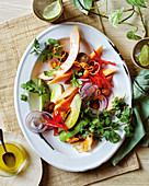 Avocado and papaya ceviche