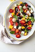 Greek salad with watermelon