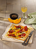 Pumpkin tarte flambée with South Tyrolean bacon