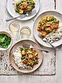 Healthy crispy spiced paneer curry
