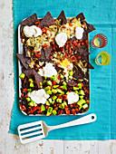 One-pan nachos with black beans