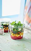 Grillgemüse-Salat im Glas