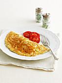 Klassisches französisches Omelett