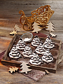 Christmas tree biscuits made from meringue