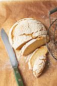 Moist sourdough bread